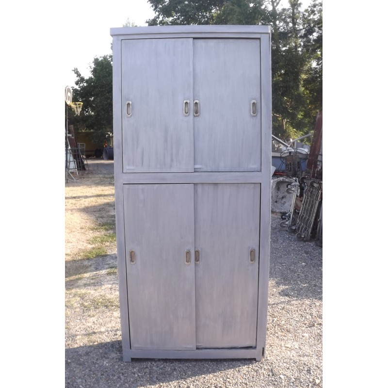 meuble industriel bois portes coulissantes. Black Bedroom Furniture Sets. Home Design Ideas