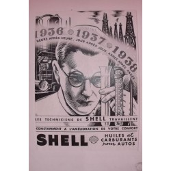 Affiche Pub SHELL 1937