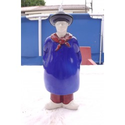 Bouteille St Amand Faience