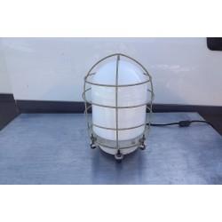 Lampe de Marine metal et Opaline blanche