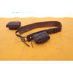 2 Ceintures cuir rangements munitions