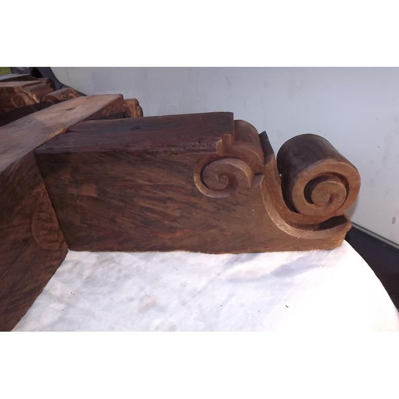 Paire de bases et de haut de poteaux bois exotique black for Bois autoclave classe 4 leroy merlin