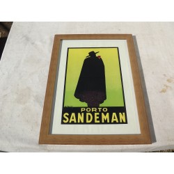 Affiche Pub Papier Porto Sandeman 1929