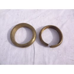 2 Bracelets Bronze Africains