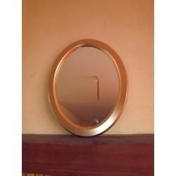 Miroir doré bois et stuk