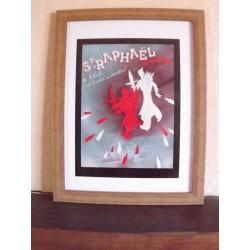 Affiche Pub Papier St Raphael 1938 par OPG