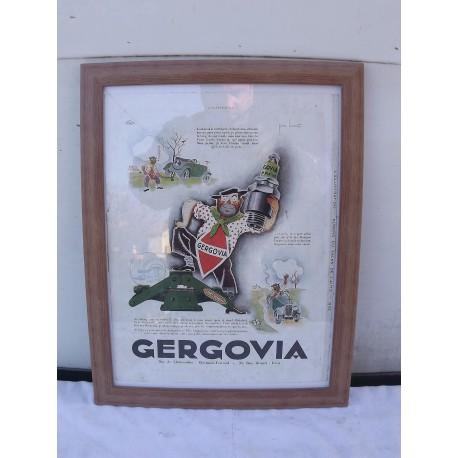 Affiche Pub Bougies GERGOVIA de P. Leconte 1933