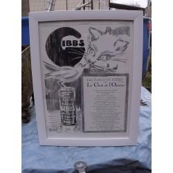 Affiche Pub GIBBS 1929 par EREL