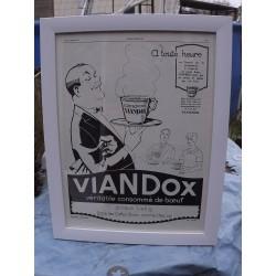 Affiche Pub VIANDOX 1926 Puybelle Publicité