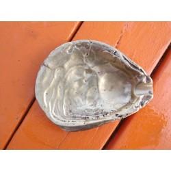 Cendrier bronze coquille d'huitre 19 ème