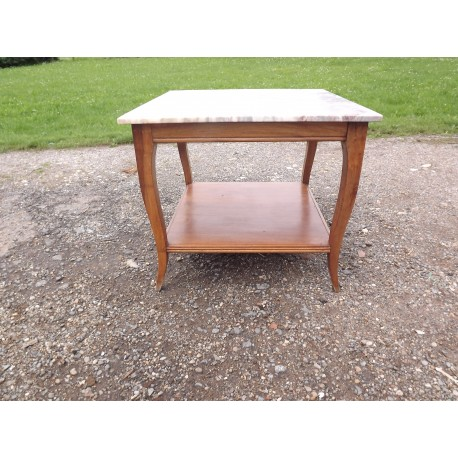 Table basse Noyer et Marbre