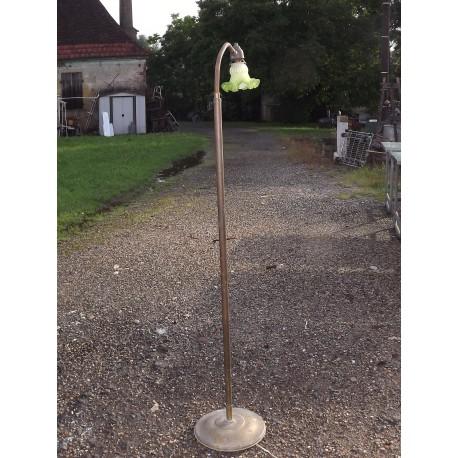 Lampe sur Pied Laiton et Tulipe Verre