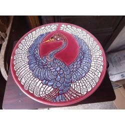 Coupe en Céramique de Style émaux de Longwy