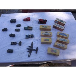 9 Voitures Miniatures Dinky Toys et Norev