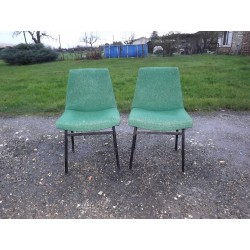Paire de Chaises Vintage des Années 60