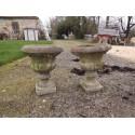 Paire de Vases en Pierres Reconstituées Année 60