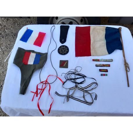 lot de Fanions , drapeaux , Brassard , décorations 39/45