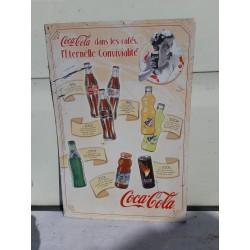 """Plaque Tole Pub """" Coca Cola """""""