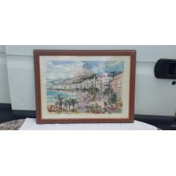 Aquarelle de Nice signé : Anfissem