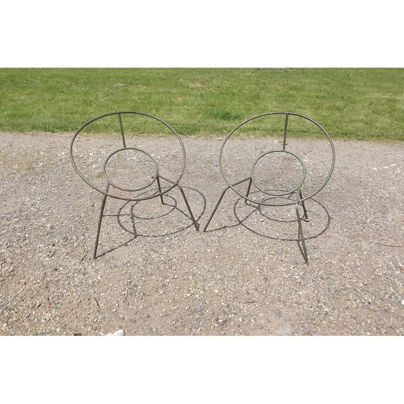 Paire de fauteuil design des ann es 60 fer for Architecture annees 60